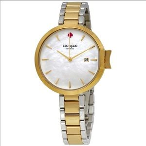 Kate Spade Park Row Mother of Pearl 2 tone watch